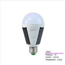 LAMPADINA EMERGENZA PANNELLO SOLARE 7W E27 LAMPADA RICARICABILE IP65 6500K SC0