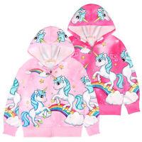 Trainingsanzug Jogginganzug Hoodie Kapuzenpulli Kinder Sportanzug Einhorn Pink