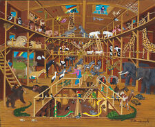 Jigsaw Puzzle Biblical Noah's Ark From the Inside 1000 pieces NEW Made in USA