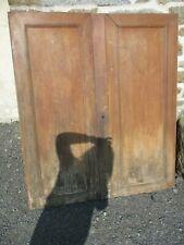 paire de portes ancienne en merisier.