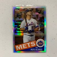 2020 Topps Chrome 35th Anniversary Pete Alonso #85TC-18 Refractor Mets New York