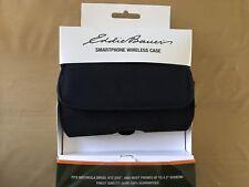 """Eddie Bauer Brown Flip Case w/ Belt Clip for 4"""" Screen Smartphones (Universal)"""