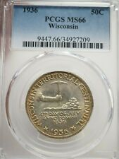 1936 PCGS MS66 Wisconsin Silver Commemorative Half Dollar # 7209