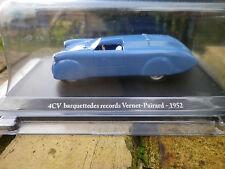 ELIGOR RENAULT 4 CV BARQUETTE DES RECORDS VERNET PAIRARD 1952 neuve en boite