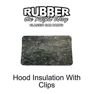 1973 - 1980 Chevy & GMC Truck Hood Insulation Kit With Clips