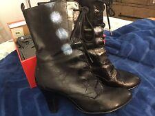 Women's Aerosoles Tapenade Black Leather Mid Calf Boots Size 8m