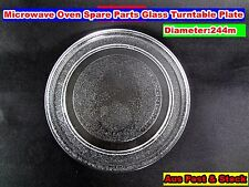 Microwave Oven Glass Turntable Plate Platter 244 mm Suits Many Brand NEW (A109)