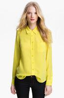 Brett 100% Silk One-Pocket Equipment Shirt Bright Yellow