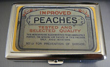Peaches D 01 Metal Silver Cigarette Case Vintage Condom Lifestyles Ad Essentials