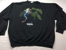 Harlequin Men's Black Large Crew Sweatshirt Biodome de Montreal Gecko Euc Bin 83