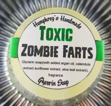TOXIC ZOMBIE FARTS Halloween Soap, Glow in the Dark Glycerin Argan Oil Vanilla