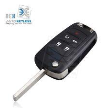 Uncut Flip Key Remote Start Keyless Entry Transmitter For Chevy 2010-2014 Camaro