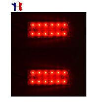 2X 12V 12 LED FEUX DE GABARIT LATERAUX ROUGE CAMION REMORQUE BUS VAN SHASSIS