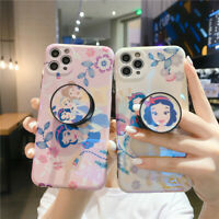 For IPhone 11 Pro XS Max XR 7 8+ Cartoon Disney Princess Stand Holder phone Case