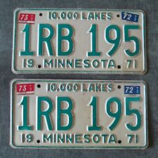 1971 1972 Collector 1973 Minnesota License Plate Matched Pair Yom Plates 1Rb 195