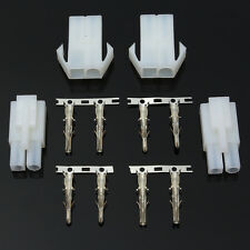 2pcs Connector Adapter Plug Socket Male + Female For Motorcycle Battery Charger
