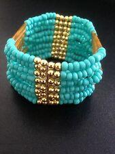 Bracelet Turquoise Stretch Boho Tribal Ethnic Bohemian Arabic Folk Gypsy B1038