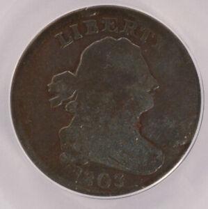 ANACS 1803 Half Cent VG-10 Damaged