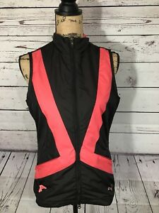 New With Tags Womens Puma Golf Wind Resistant Vest Pink and Black Size Small $80
