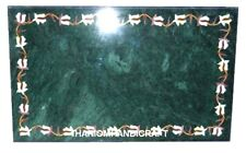 Green Marble Dining Table Top Marquetry Creative Natural Inlay Garden Decor M157