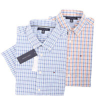 Tommy Hilfiger Men/'s Short Sleeve Button-Down Casual Shirt $0 Free Ship