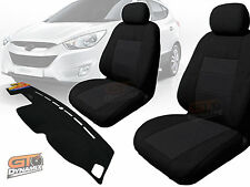 Hyundai IX-35 Custom Made Seat Covers BLACK F+R & DASH MAT 02/2010-2016 IX35
