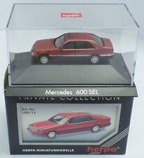 HERPA Nr.100113 Mercedes 600 SEL (W140), almandinrotmetallic (PC) - OVP