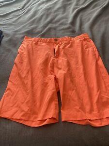 Mens adidas Golf Shorts Size 38 Orange