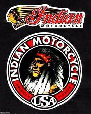 INDIAN MOTORCYCLES WORKSHOP GAS GARAGE SERVICE STATION 2 x STICKER DECAL CHOPPER