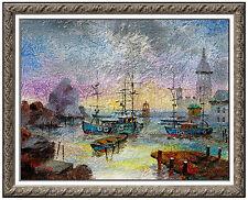 Anatole Krasnyansky Acrylic Original Painting Signed Talin Cityscape Large Art