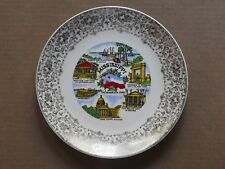 """State Of Mississippi 10"""" Porcelain Collector'S Plate With Wall Mount"""