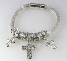 4030844 Cross Charm Bracelet Magnetic Religious Inspirational