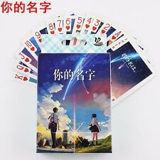 Hot Anime Your Name Colorful Poker Cards Playing Cards 54PCS With Box Collection