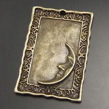 15pcs Antique Style Bronze Tone Frame Charm Moon Pendants Finding 30*21mm