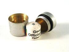 Geocaching Nano Cache Behälter silber magnetisch inkl. 2 x wetterfestem Logbuch