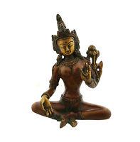 Statua Di Verde Tara IN Ottone Art Buddista 1KG 4721