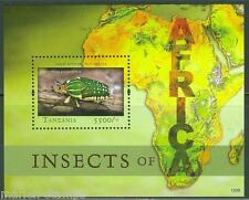 TANZANIA INSECTS  OF AFRICA SOUVENIR SHEET  MINT NEVER HINGED