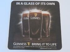 2010 Beer Collectible Coaster: GUINNESS In A Glass of its Own ~ Bring It To Life