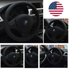 Universal Auto Car Steering Wheel Cover Microfiber Leather Breathable Anti-slip