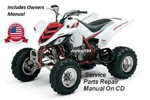 2006 07 08 09 Yamaha Raptor YFM700 OEM Owners Manual & Service Repair CD Manual