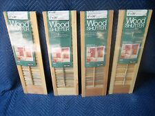 """4 @  8"""" W x 23"""" H UNFINISHED WOOD INTERIOR LOUVER SHUTTER PANELS - NOS"""