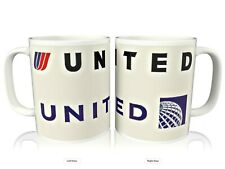 United Airlines New & Old Logo Coffee Mug Cup
