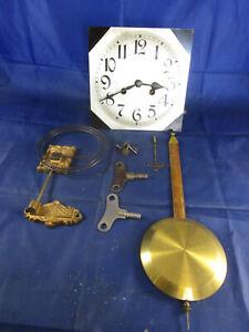 LOT Ersatzteile Regulator Uhrwerk Wanduhr Antik Klangwerk Gong Pendel Schlüssel