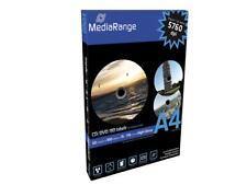 100 MediaRange CD DVD BD-R Etiketten 50 Blatt 118 x 15 hochglänzend