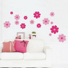 New Pink Flowers Kids Children's Room/Nursery Room Wall Sticker Decor Art Decal