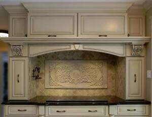 Backsplash kitchen stone wall tiles marble home handmade beige decor Canada