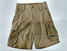 Under Armour Youth Boys Girls Khaki Cargo Shorts