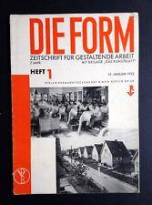 Revista de forma Die arquitectura modernista Bauhaus Diseño Morton Shand en inglés