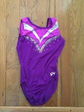 Girl's GK Elite Purple & Pink Gymnastics Leo - Adult S-EUC