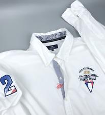 "Men's LA MARTINA French Cruise White Long Sleeve Shirt Size 3YL XXXL P-t-P 30.3"""